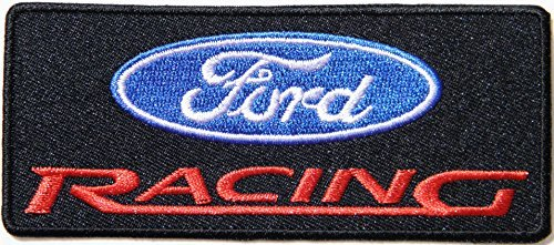 FORD RACING Logo Sign Car Patch Sew Iron on Applique Embroidered T shirt Jacket Costume BY - T-shirt Nascar Embroidered