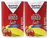 Superior Crystal The Finer Iodised Salt, 2 Pack Each 26 Oz