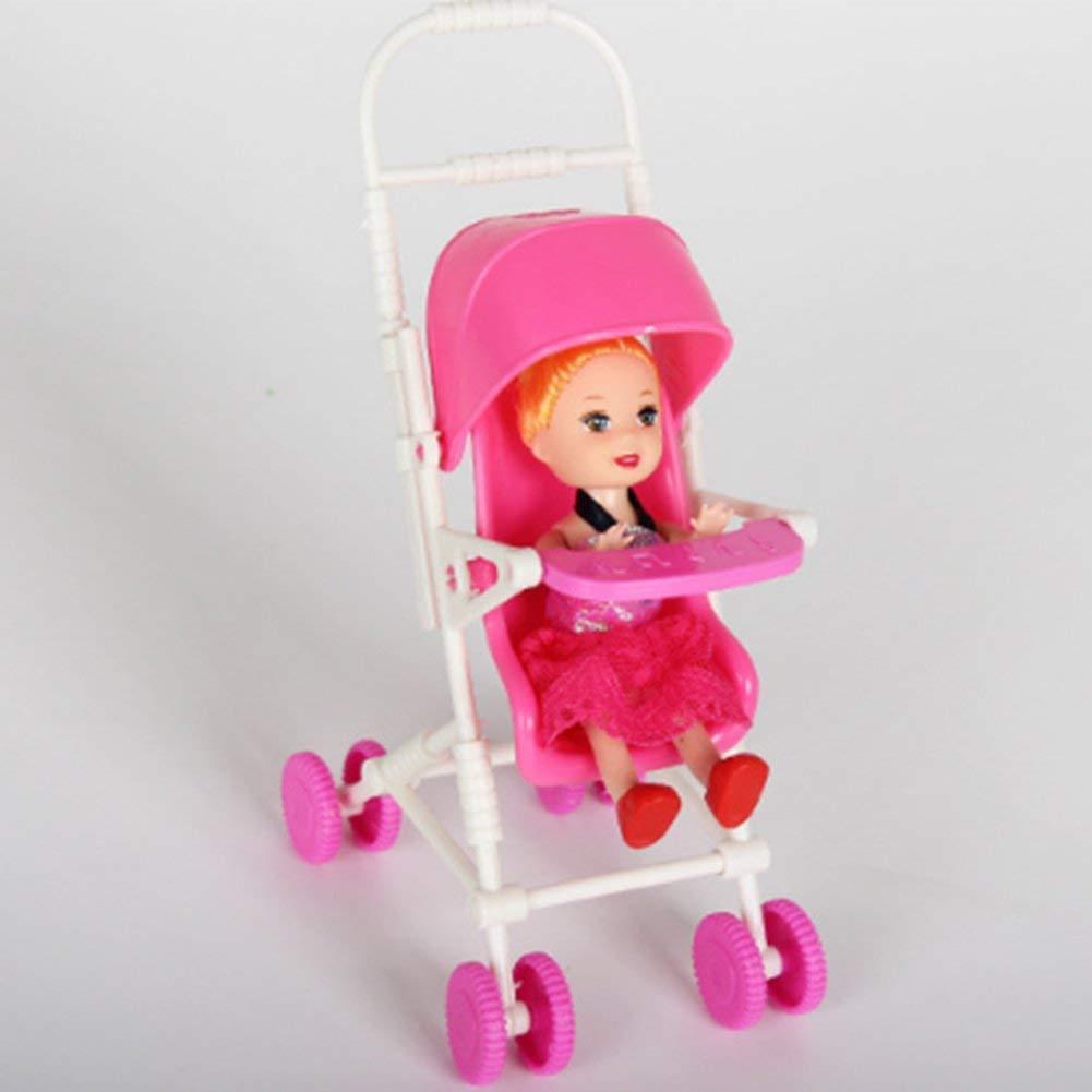 Amazon.es  Accesorios para muñecas Set Toy Doll Accesorios para muñecas con  Cochecito de bebé Walker Scooter Doll Stand para muñecas Barbie  Juguetes y  ... 031b3828493