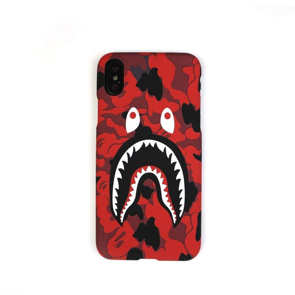 sports shoes 64b51 e0e42 Amazon.com: Bape case iPhone Xs max|Bape Camouflage Shark Mouth ...