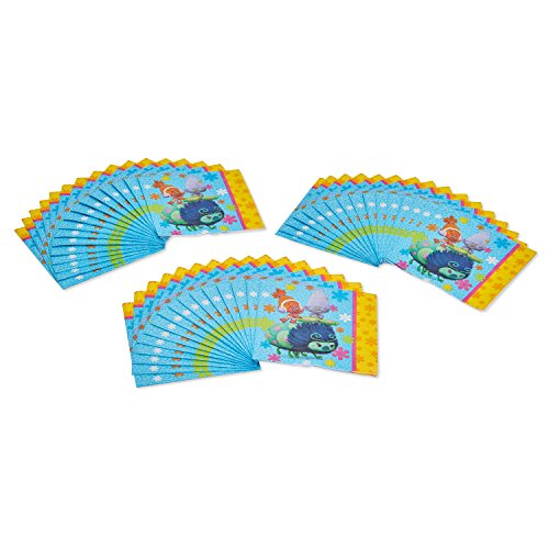 American Greetings Trolls Lunch Napkins, 32-Count