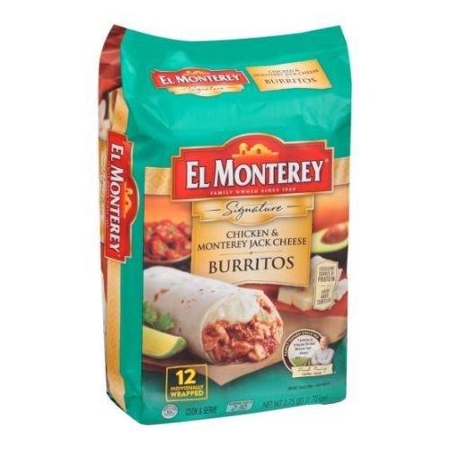 El Monterey Signature Chicken and Monterey Jack Cheese Burrito, 3.75 Pound -- 4 per (Chicken Monterey Jack Cheese)