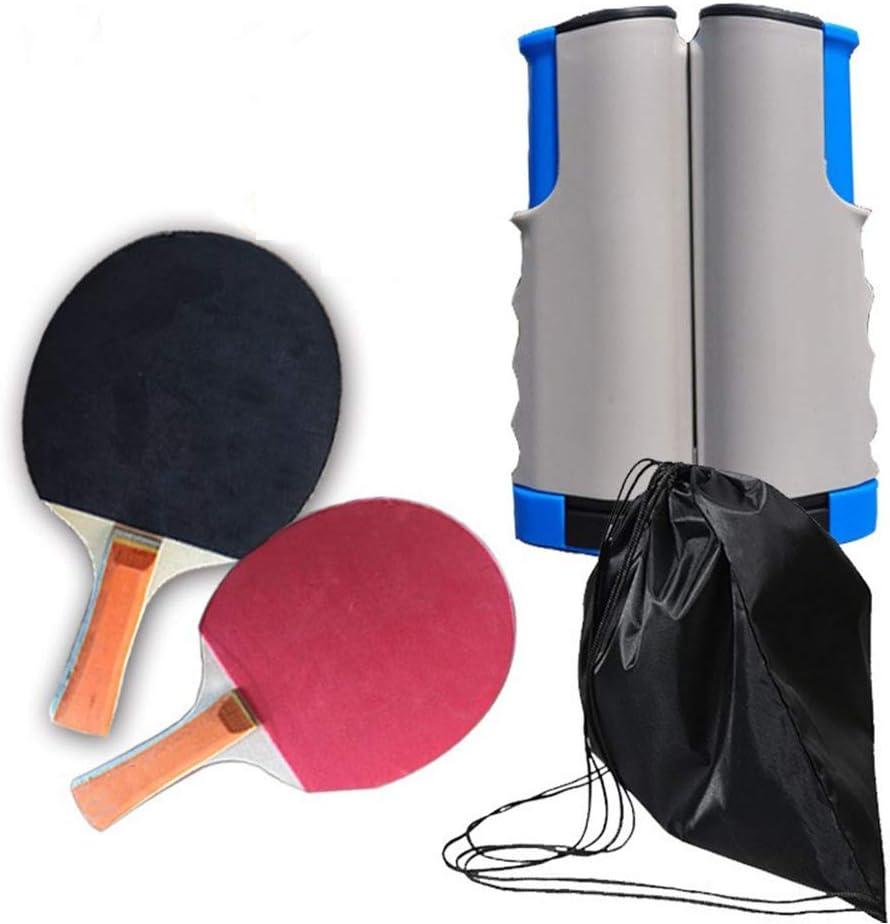 Hangxingdo Juegos de Ping Pong portátiles con 2 Palos, Redes de Tenis de Mesa retráctiles para niños, Adultos, Juegos al Aire Libre para Escuela, hogar, Club Deportivo, Oficina