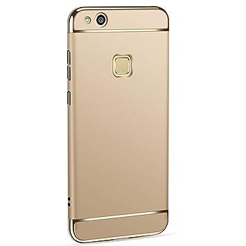 Caler ® Funda Compatible/Reemplazo para Huawei P10 Lite Funda, Carcasa rígida Antigolpes Cristal Templado Funda PC Ultra Slim 3 en 1 antigolpes rígida ...