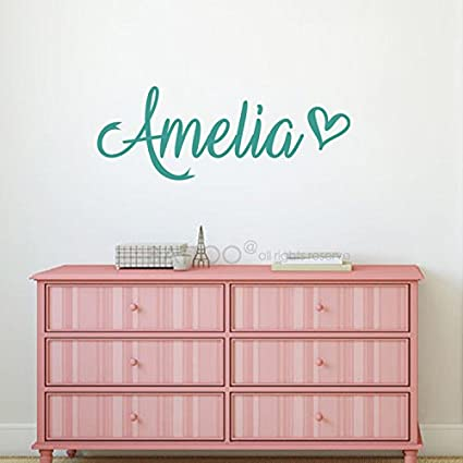 BATTOO Fancy Personalized Custom Name Vinyl Wall Art Decal Sticker 50\