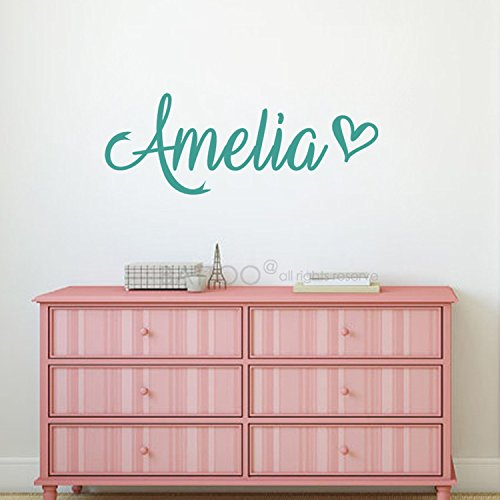 BATTOO Fancy Personalized Custom Name Vinyl Wall Art Decal Sticker 50