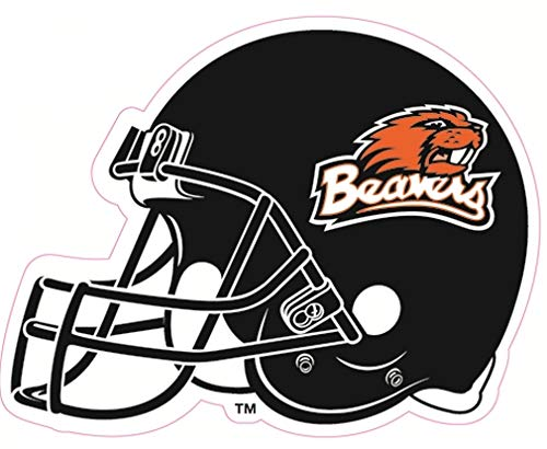 6 Inch OSU Beavers Logo Football Helmet Decal Oregon State University Beaver Removable Wall Sticker Art NCAA Home Room Decor 6 by 5 Inches - Oregon State University Helmet