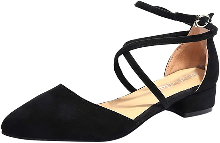 Scarpe Sposa Tacco Quadrato.Topgrowth Scarpe Donna Eleganti Scarpe Con Tacco Basso Punta