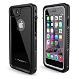 OTBBA Phone 7/8 Waterproof Case,IP68 Certified Waterproof Shockproof Snowproof Dirtproof Full Body Protective Underwater Case Compatible for 7/8 (Black)