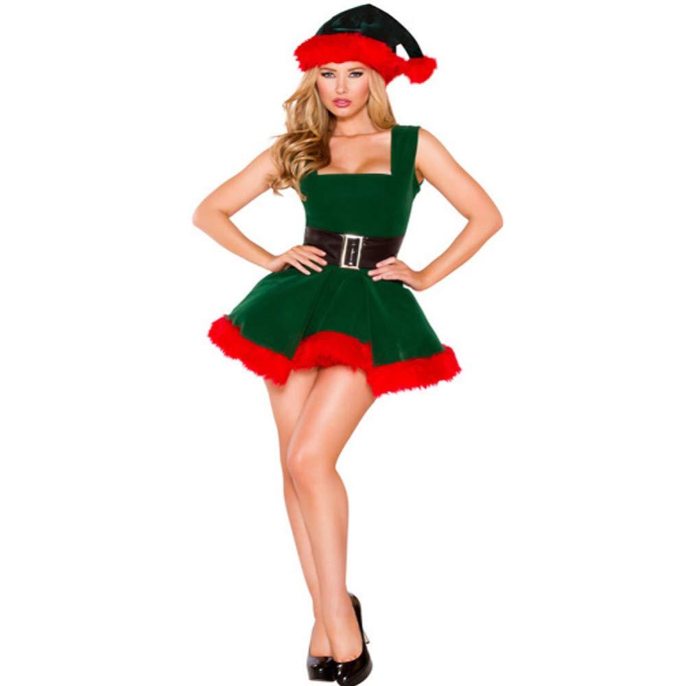 Compra calidad 100% autentica CVCCV Trajes Femeninos para Eventos de Navidad Club Nocturno DS DS DS Trajes navideños Trajes de Navidad Verdes Telas de algodón  Tienda 2018