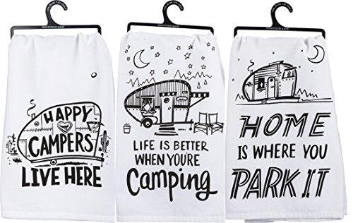 - Primitives by Kathy Kitchen Towel Bundle - Happy Campers, Park It, Better Camping