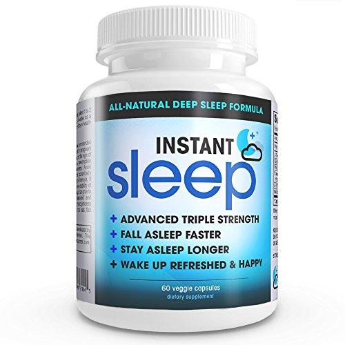 Instant Sleep COMPLETE Natural Sleep Aid Formule force maximale sommeil Soutien mélange de L-théanine, 5-HTP, la mélatonine, de magnésium, extrait de Mucuna pruriens, GABA et Phellodendron Root (poudre d'herbe).