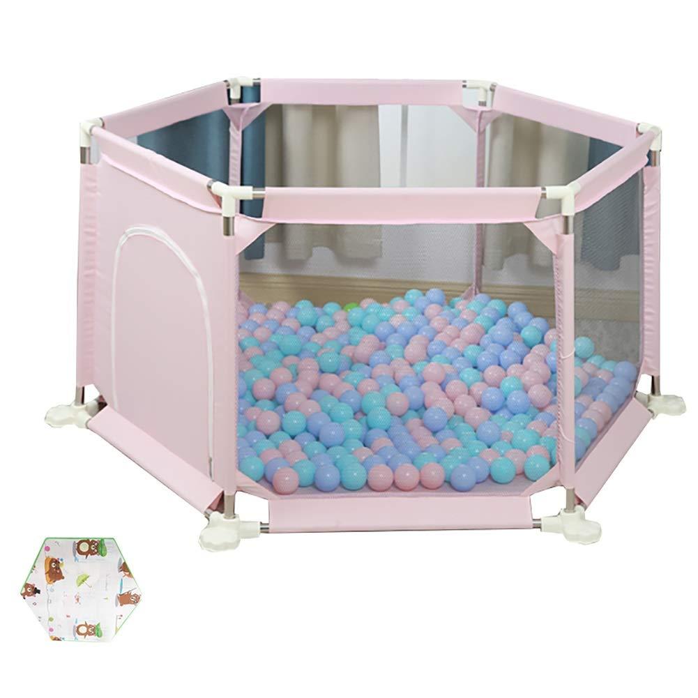 【高額売筋】 ベビーサークル : 家庭用ベビープレイヤー6パネル幼児の遊びゲームフェンスクロールマット、ホームセーフティキッズプレイハウス (色 Pink) : B07KTYTK1V Pink) Pink B07KTYTK1V, BOOKS 21:c71b31c8 --- a0267596.xsph.ru