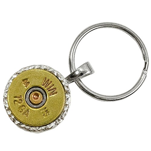 RBSK-12 Real Bullet key chain with Recycled Bullet Casings, Brass, 12-Gauge