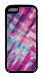 Customized Case patterns abstract pink parallax 111 TPU Black for Apple iPhone 5C