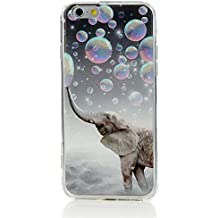 Iphone 6 Plus 6s Plus Case Heavy Duty Durable TPU Bumper Back Cover Elephant