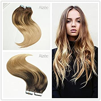 Amazon alize 18 balayage ombre tape in hair extensions alize 18quot balayage ombre tape in hair extensions brazilian remy human hair 4 pmusecretfo Images