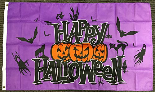 Best Flags Happy Halloween (Purple) 3x5ft Poly Seasonal