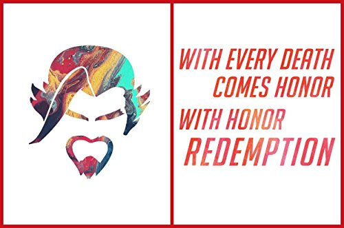 Watercolor Overwatch Hanzo Portrait Quote 2 Pack Unframed Gaming Posters US Letter