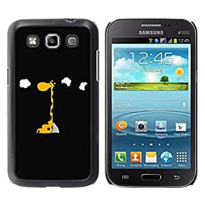 - Giraffe Design - - Hard Plastic Protective Aluminum Back Case Skin Cover FOR Samsung GALAXY Win I8550 I8552 Queen Pattern