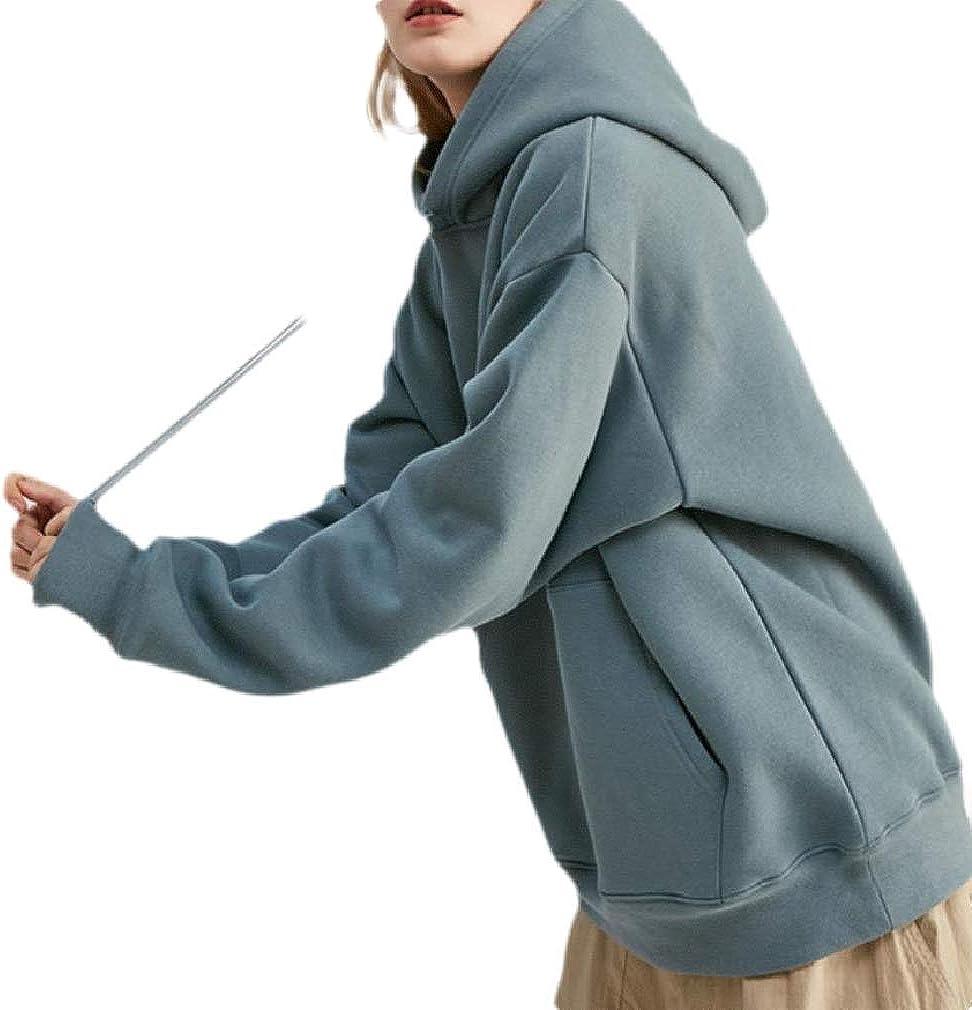 JSY Men Long Sleeve Solid Vintage Sports Hoodies Pocket Sweatshirts