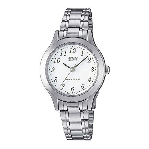 59fad5cff1e2 Casio Reloj Analógico para Mujer de Cuarzo con Correa en Acero Inoxidable  LTP-1128PA-7BEF  Amazon.es  Relojes