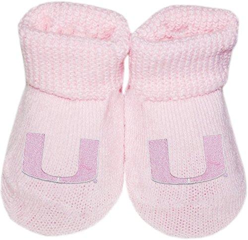 University of Miami UM Hurricanes Newborn Baby Bootie Sock -