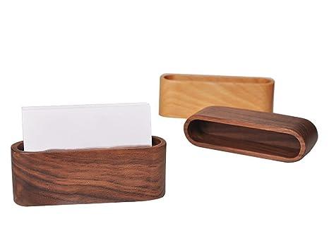 1pièce en bois pour cartes de visite nom carte organiseur bureau