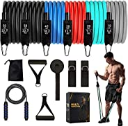 Resistance Bands Set 200LB Exercise Bands for Working Out, CORNMI Workout Bands Stackable for Women/Men with H