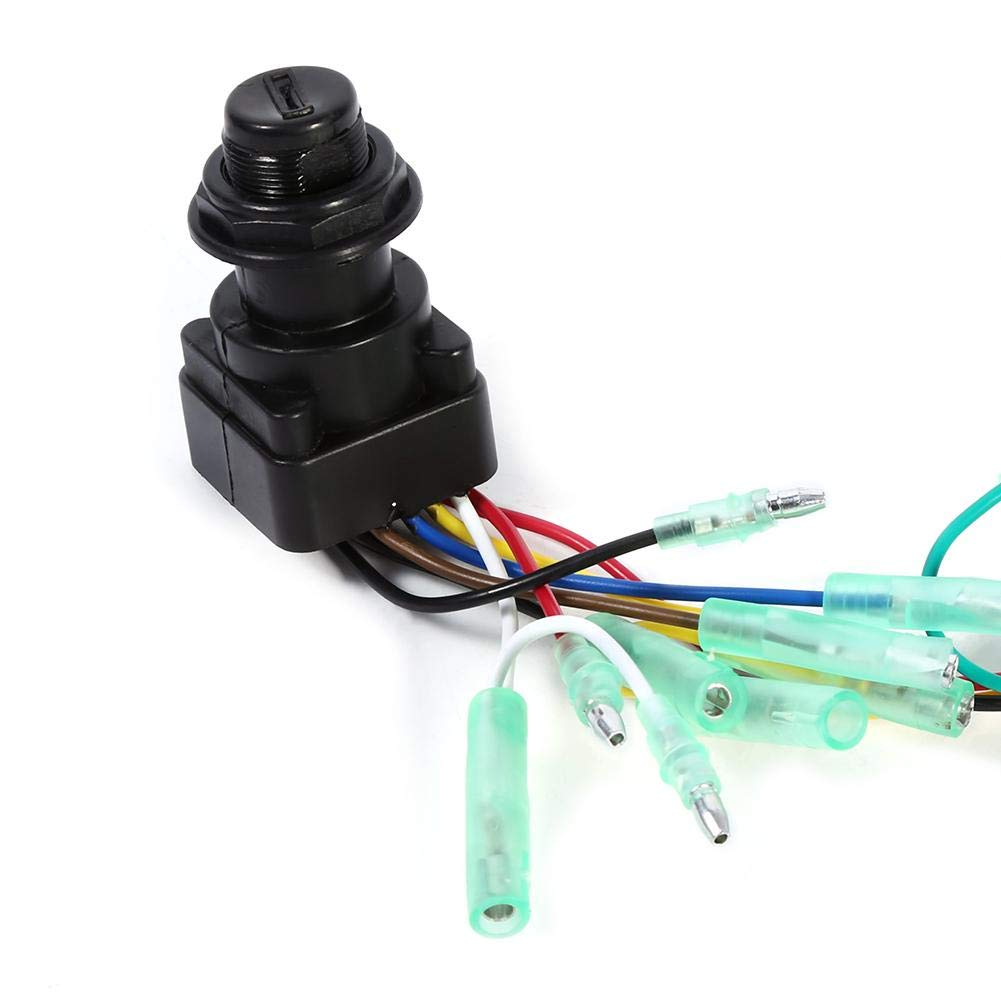 Akozon Ignition Key Switch Ignition Main Switch for Yamaha Outboard Motor Control Box