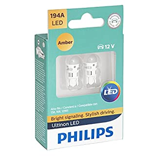 Philips 194 Ultinon LED Bulb (Amber), 2 Pack