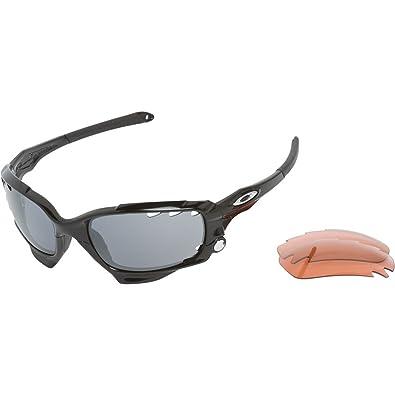 oakley racing jacket polished black black iridium g40 lenses rh amazon co uk