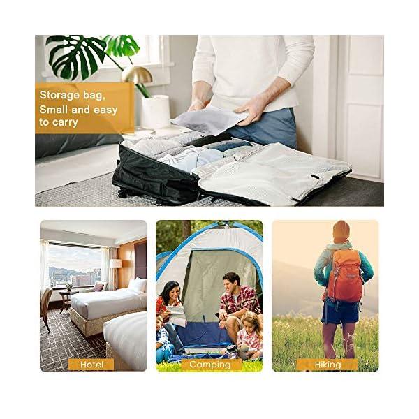 51ulVLDd90L 2 Stück Wäscheleine,Jusduit Camping Wäscheleine Reise Outdoor 185-360cm,Flexible Wäscheleine Tragbar Elastische mit 12…