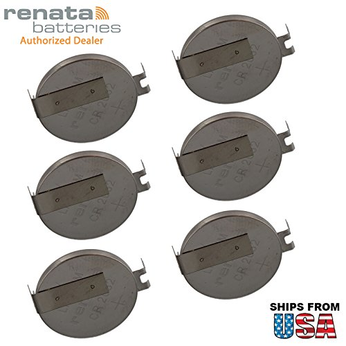 6x Renata CR2032FH2-MFR 3V Lithium Coin Battery HORZ 2-PIN For PC CMOS Compaq Presario V6000 IBM ThinkPad A20m Gateway Solo 5300 HP Pavilion dv6000 Series dv6300 Series dv6100 (Compaq Presario Gateway)