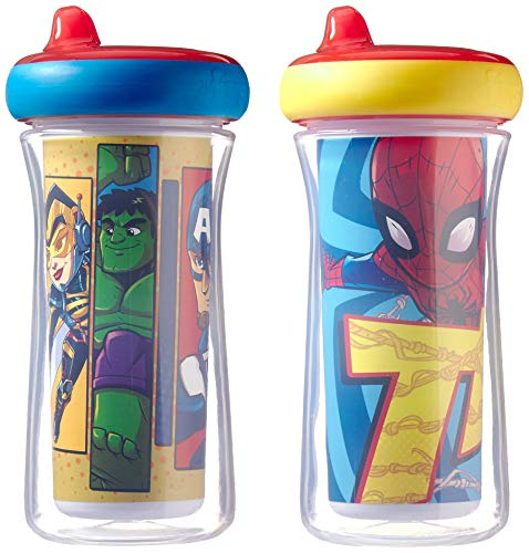 The First Years Marvel Superhero Adventures Hero Insulated Sippy Cups, 2pk