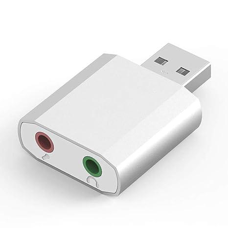 OPmeA Mini Tarjeta de Sonido USB Externa USB a 3.5mm ...