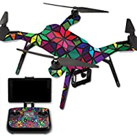 Skin For 3DR Solo Drone – Stained Glass Window | MightySkins Protective, Durable, and Unique Vinyl Decal wrap cover | Easy To Apply, Remove, and Change Styles | Made in the USA