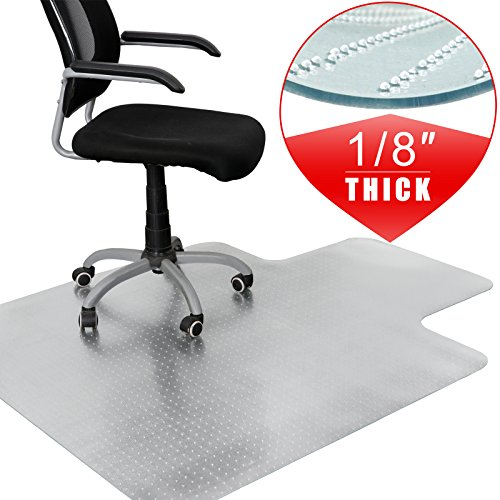 F2C 48-Inch by 36-Inch 1/8''(3MM) Thickness Plastic Floor Office Chair Mat 48'' X 36'' Clear Protector Office Chair Rug Carpet Floor Computer Desk 1200mmx 900mm by F2C