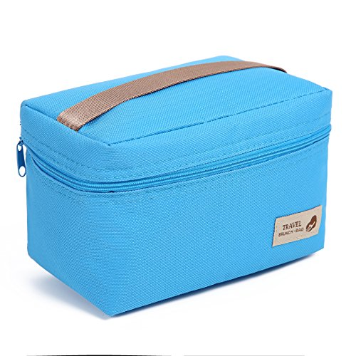 Portable Insulated Mini Small Snack Bag For Kids Teen Girls School Students Cooler Bag For Kids Small Bag For Feeding Bottle,blue (Bag Snack Box Lunch)
