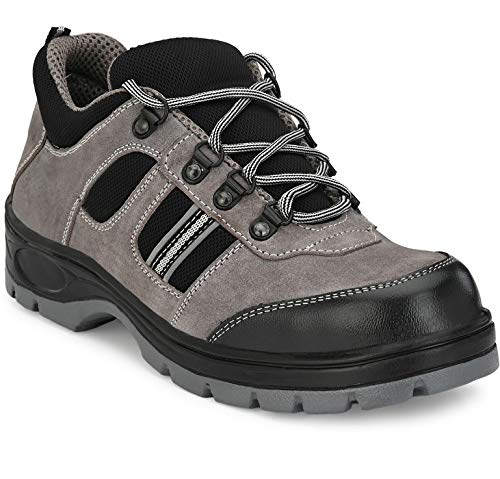 Ozarro Suede Leather Steel Toe Safety Shoes for Mens Price & Reviews