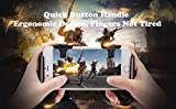 Mobile Game Controller, weini Cell Phone Game Controller Sensitive Shoot and Aim Buttons L1R1 Trigger Buttons for PUBG/Knives Out/Rules of Survival Support Android and iOS(1 Pair)
