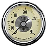 Auto Meter 2032 Prestige Antique Ivory 2-1/16'' 120-240 Degree Mechanical Water Temperature Gauge