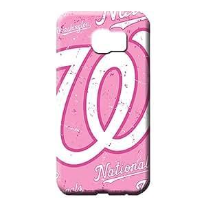 samsung galaxy s6 Shock-dirt Top Quality Forever Collectibles phone skins washington nationals mlb baseball