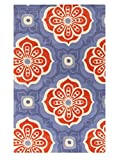 Surya Kate Spain Alhambra ALH-5006 Hand Tufted 100-Percent New Zealand Wool Floral and Paisley Accent Rug, 3-Feet 3-Inch by 5-Feet 3-Inch
