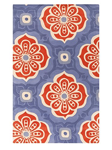 Surya Kate Spain Alhambra ALH-5006 Hand Tufted 100-Percent New Zealand Wool Floral and Paisley Accent Rug, 3-Feet 3-Inch by 5-Feet 3-Inch by Surya