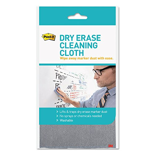 Post-it DEFCLOTH Dry Erase Cloth, Washable, 5.2''x8.1'', 12/PK, White by Post-it