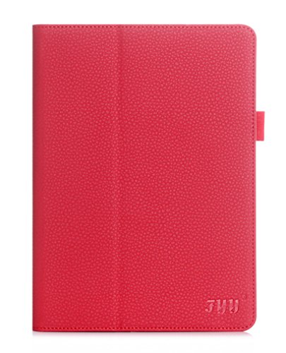 FYY Case for iPad Pro 9.7 - [Luxury Protection] Premium PU Leather Folio Case with Card Slots, Note Holder, Hand Strap for iPad Pro 9.7'' (2016) Red by FYY
