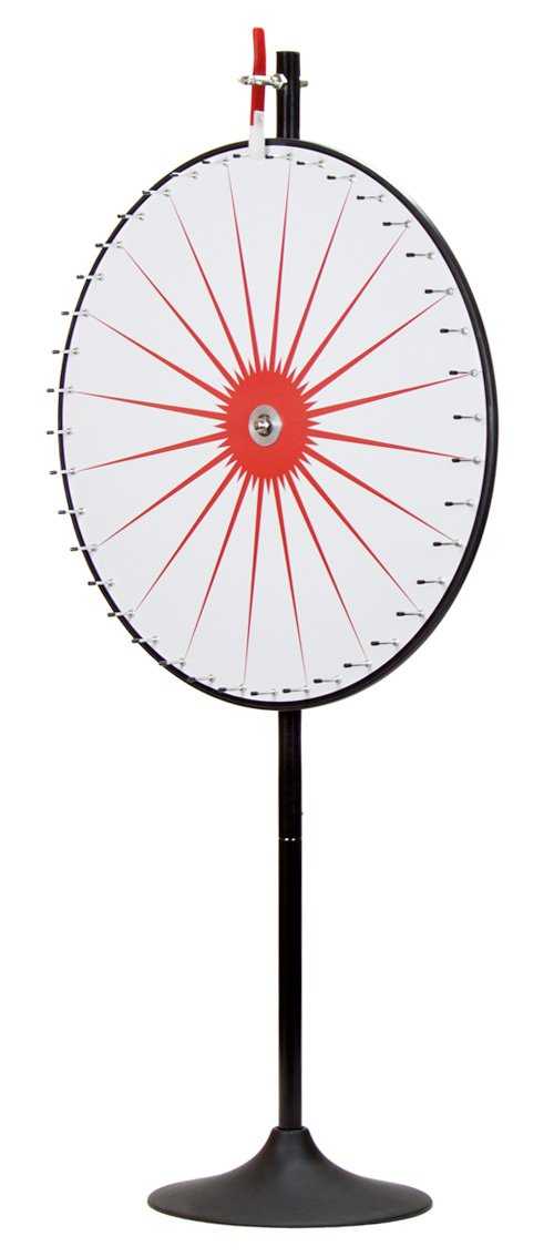36'' Custom Dry Erase White Prize Wheel with Extension Base and Extension Pole by Midway Monsters
