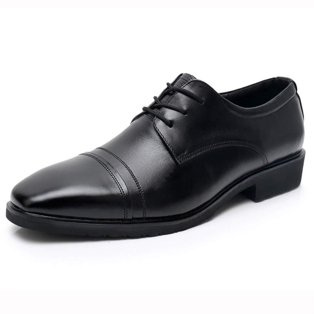 Schwarz CBFYKU CBFYKU CBFYKU Oxford Schuhe for Mau ;nner Formelle Schuhe Schnuu ;ren Stil Echtes Leder Casual Business Low Top Einfarbig 15a