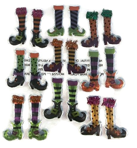 Halloween Witch Legs 3d Stickers -